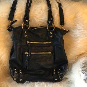 Linea pelle black satchel
